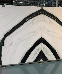 Panda White bookmatched slab by CK Stones Thailand