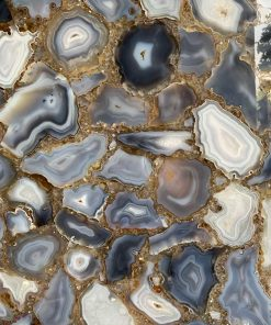 grey agate gemstone slab by ck stones thailand